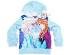 "Bluza z kapturem Frozen ""Best Friends"" turkus 8 lat"