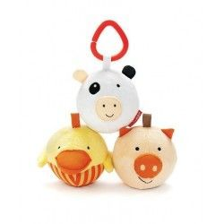 Zabawka Funky Farm Animal Balls Trio