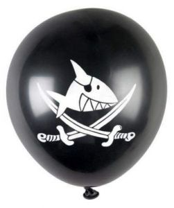 Balony Captn Sharky (8 szt.)